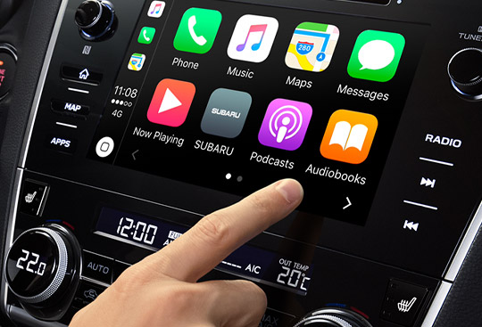 Apple CarPlay<sup>*2 </sup>and Android Auto<sup>*3</sup>