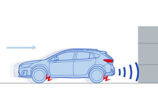 Advanced Safety Package: Reverse Automatic Braking (RAB)<sup>*</sup>